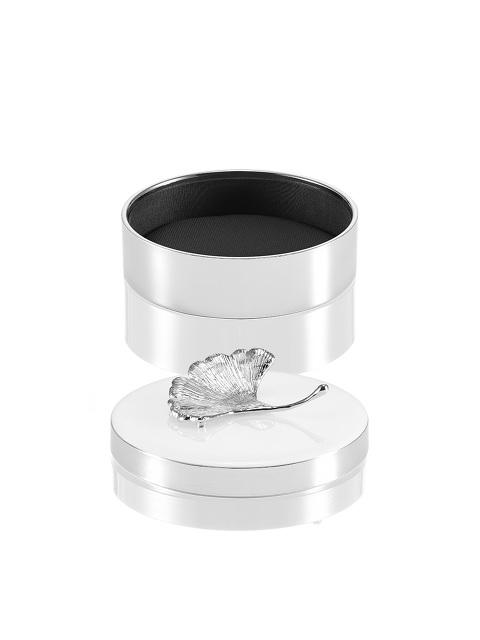 Ginkgo Round Enamel Box – Medium