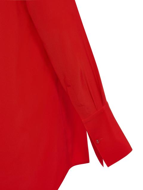 Jewel Button Silk Crepe Blouse