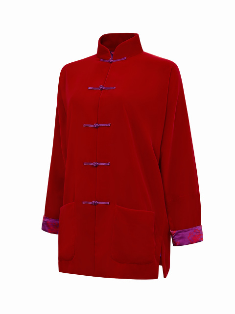 Velvet Tang Jacket with Chinoiserie Silk Lining