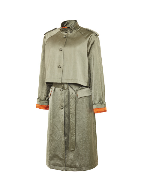 4-in-1 Convertible Satin Trench Coat
