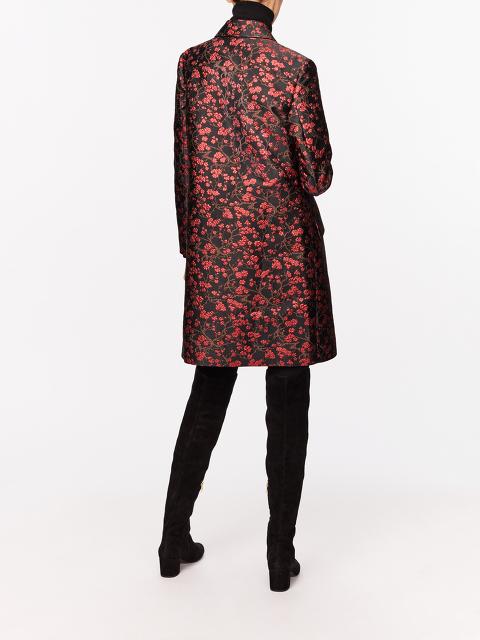 Plum Blossom Jacquard Overcoat