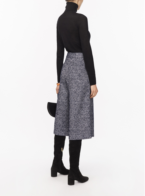 Tweed Culottes with Chinoiserie Silk Lining