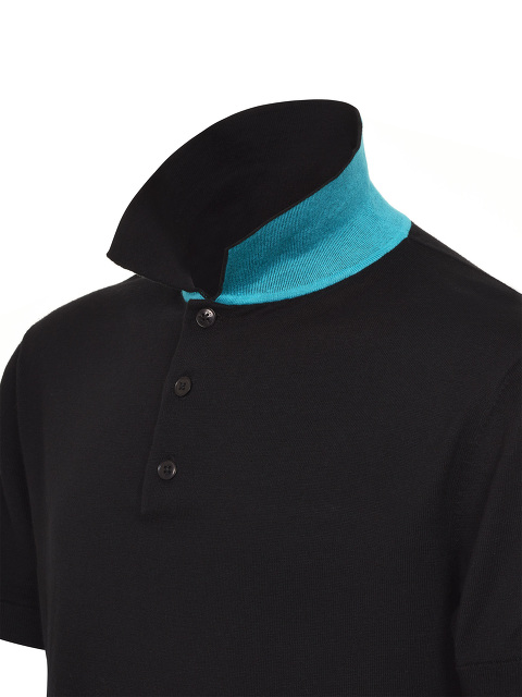 Contrast Trim Knit Polo Shirt