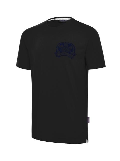 Crest Flock Print T-shirt