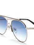 'Fei' Lasered Top Bar Aviator Sunglasses