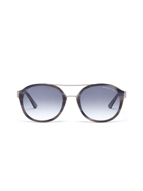'Feather' Horn Acetate Layered Sunglasses