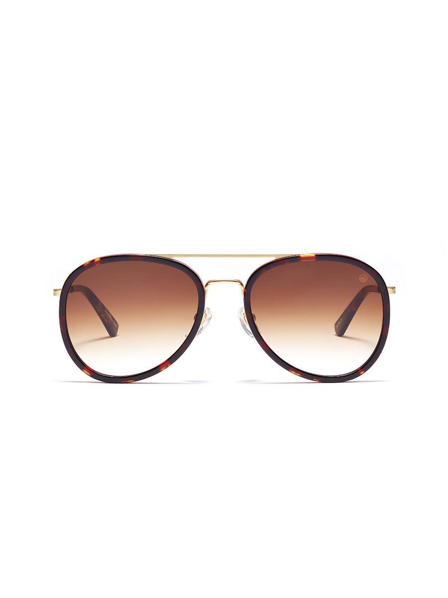'The Pilot' Acetate Layered Aviator Sunglasses