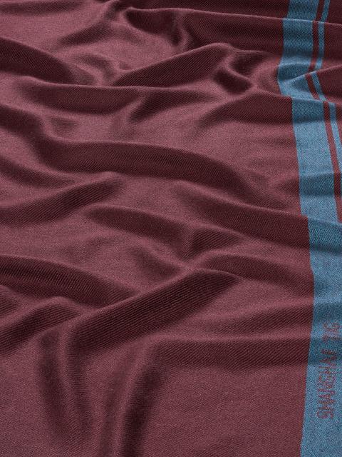 Logo Stripe Silk-cashmere Scarf