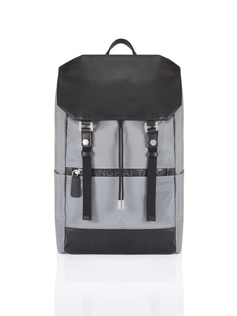 Silver Jubilee Leather Flap Reflective Backpack with Waterproof Zip