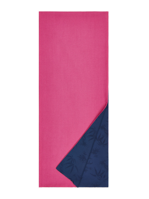 Bamboo Jacquard and Cashmere Twill Double-sided Scarf