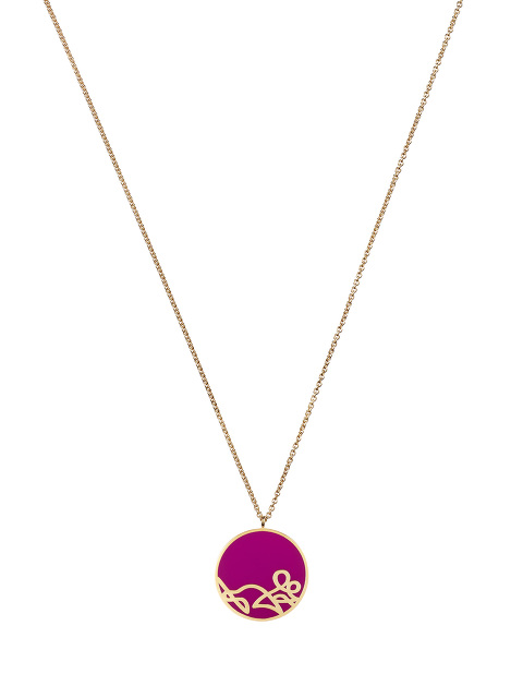 Zodiac Enamel Pendant Necklace – Rat