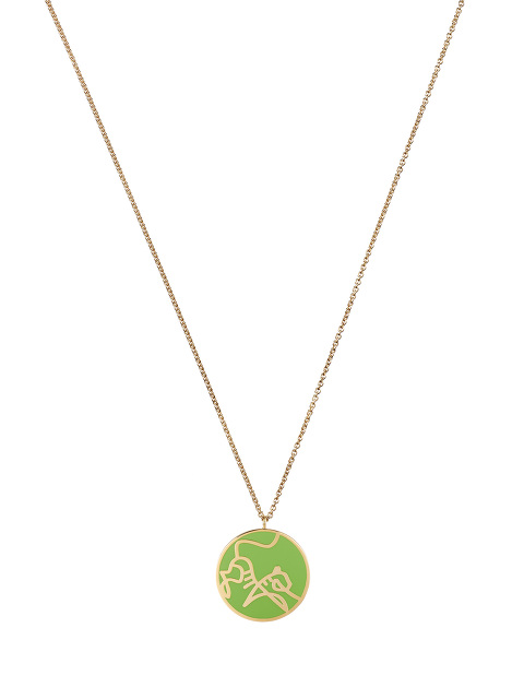 Zodiac Enamel Pendant Necklace – Tiger