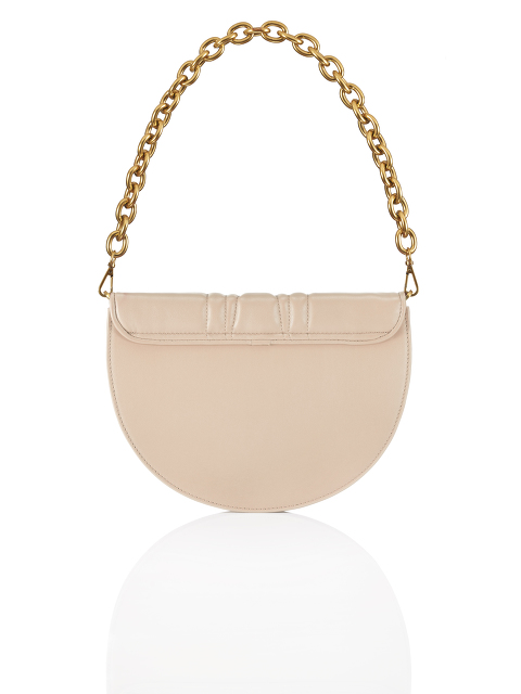 Half Moon Leather 2-way Crossbody Bag