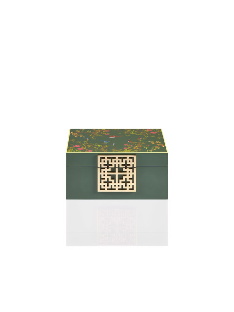 Forbidden Garden Lattice Clasp Lacquer Jewellery Box – Small