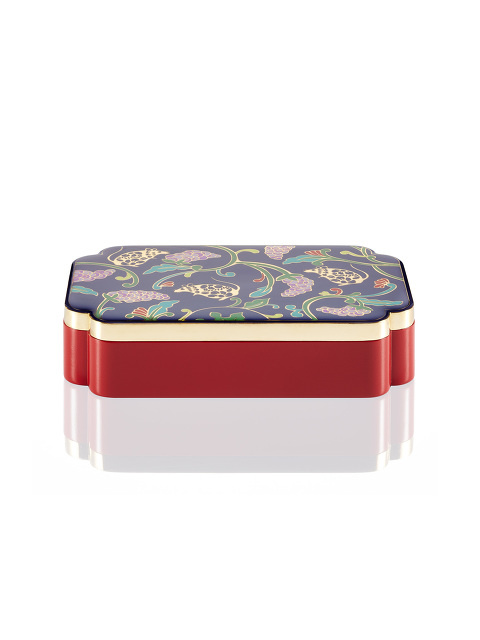 Rat and Grapes Rectangular Enamel Box