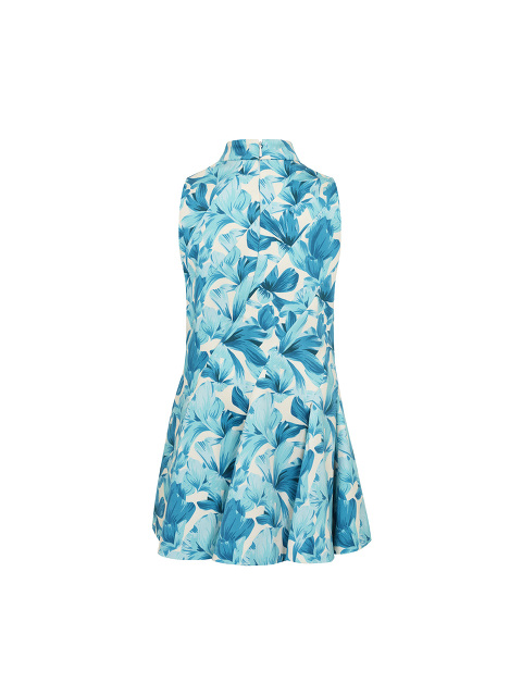 Kids Orchid Print Flared Dress