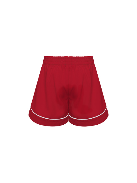 Kids Contrast Satin Trim Shorts