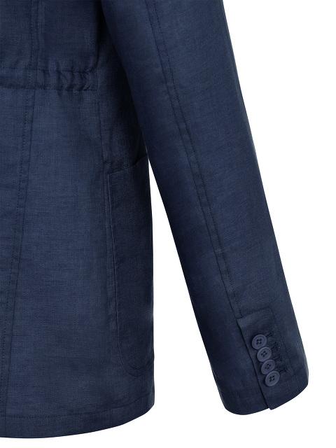 Bomber Collar Linen Jacket