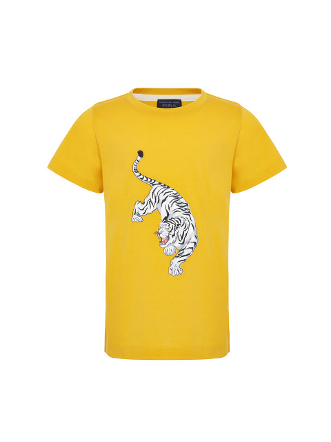 Embroidered Tiger Print Kids T-shirt