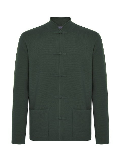 Cashmere-silk Frog Button Cardigan