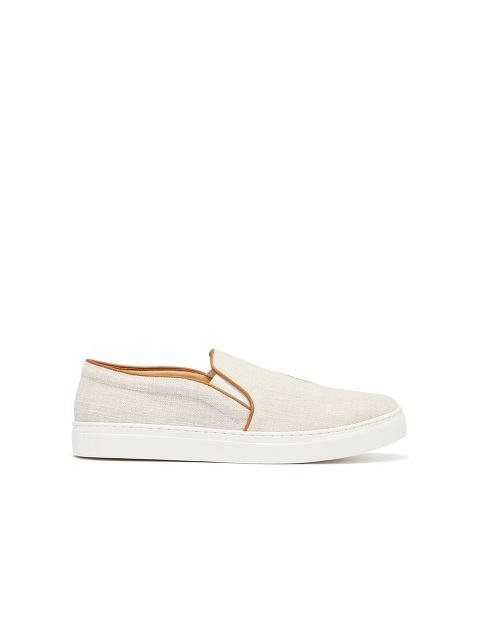 Bing Xu for Shanghai Tang 'Catch Me If You Can' Unisex Embroidered Linen Slip-ons