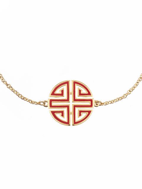 Enamel Shou Charm Bracelet