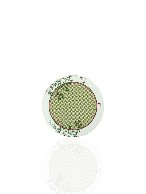 Forbidden Garden Bamboo Lattice Fine Bone China Dessert Plate Set of 2