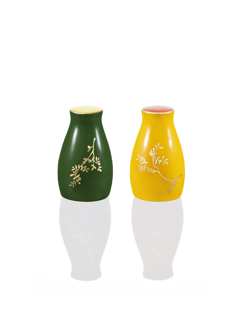 Forbidden Garden Fine Bone China Salt and Pepper Shaker Set