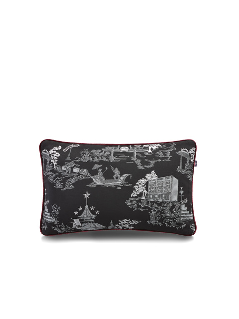 Chinoiserie Jacquard and Velvet Pillow