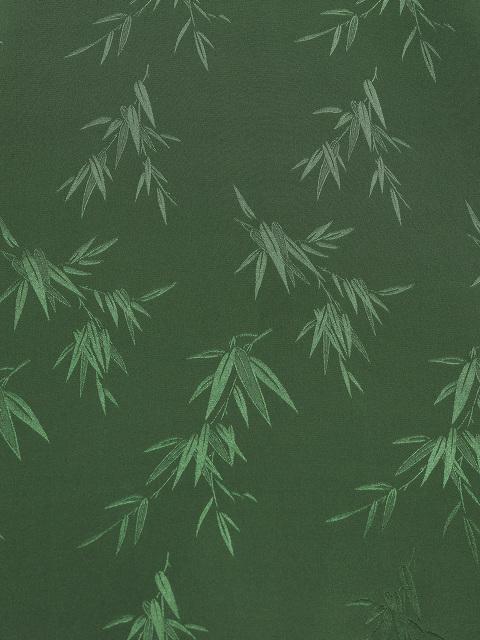 Bamboo Jacquard Mandarin Collar Stretch Silk Blouse