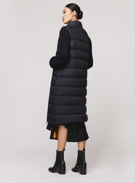 Wool Knit Sleeve Down Coat