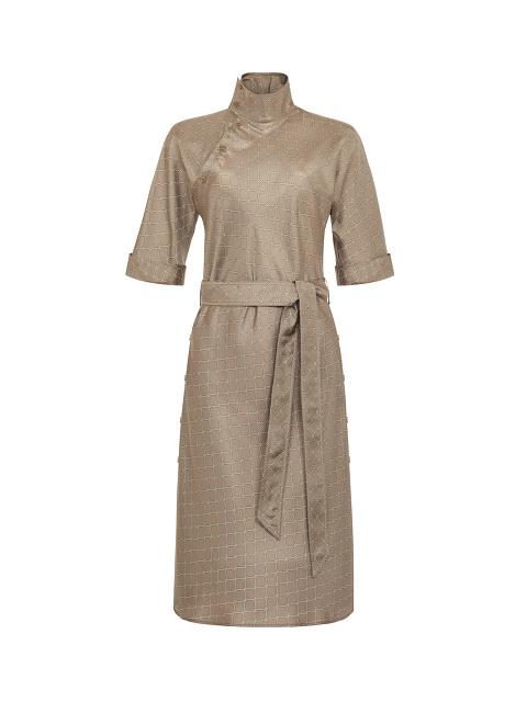 Yuni Ahn for Shanghai Tang Silk Lattice Split Qipao Collar Dress