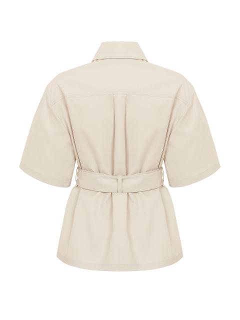 Yuni Ahn for Shanghai Tang Short Sleeve Qipao Cropped Trench