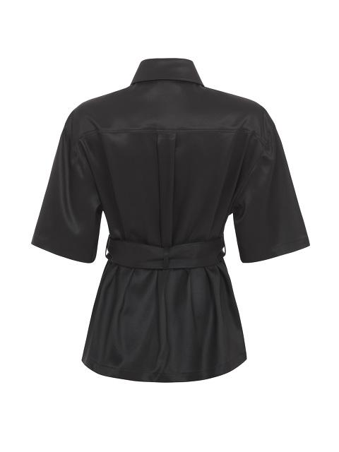Yuni Ahn for Shanghai Tang Wool-Silk Short Sleeve Qipao Cropped Trench
