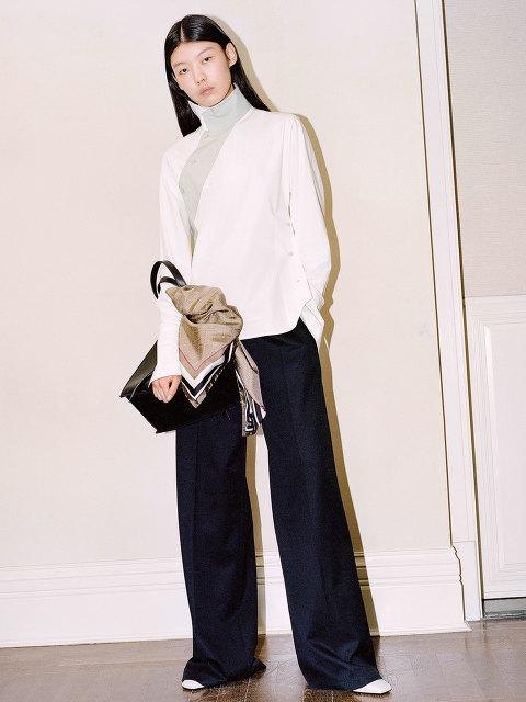 Yuni Ahn for Shanghai Tang Wool Pleated Palazzo Pants