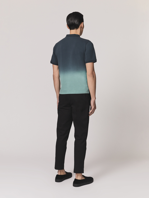 Gradient Dye Ombre Polo Shirt