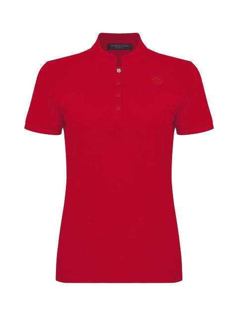 Mini Ruched Polo Shirt