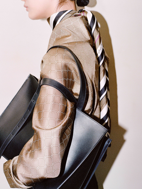 Yuni Ahn for Shanghai Tang Leather East West Tote