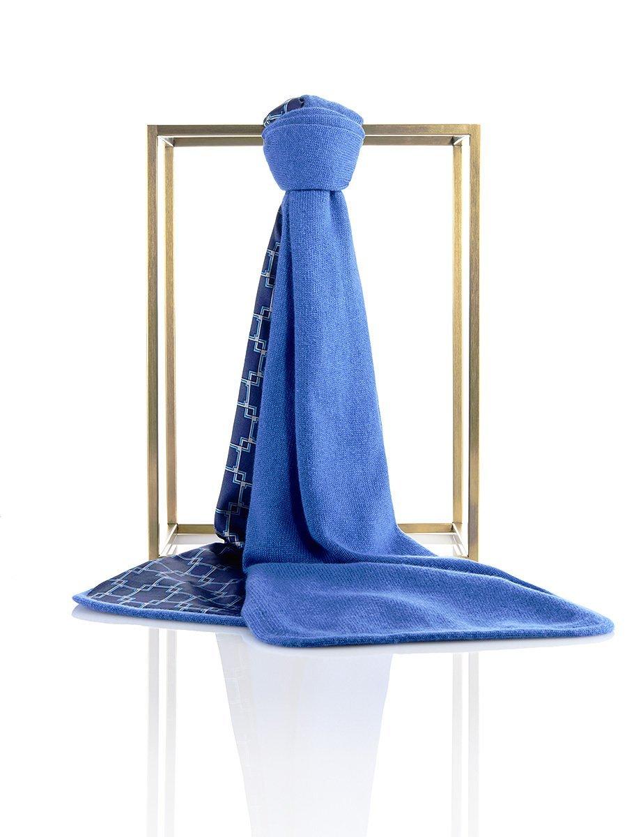Men's Cashmere - Silk Lattice Lined Scarf