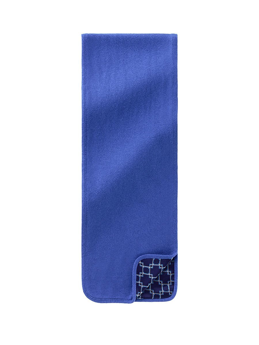 Men's Cashmere - Silk Lattice Lined Scarf