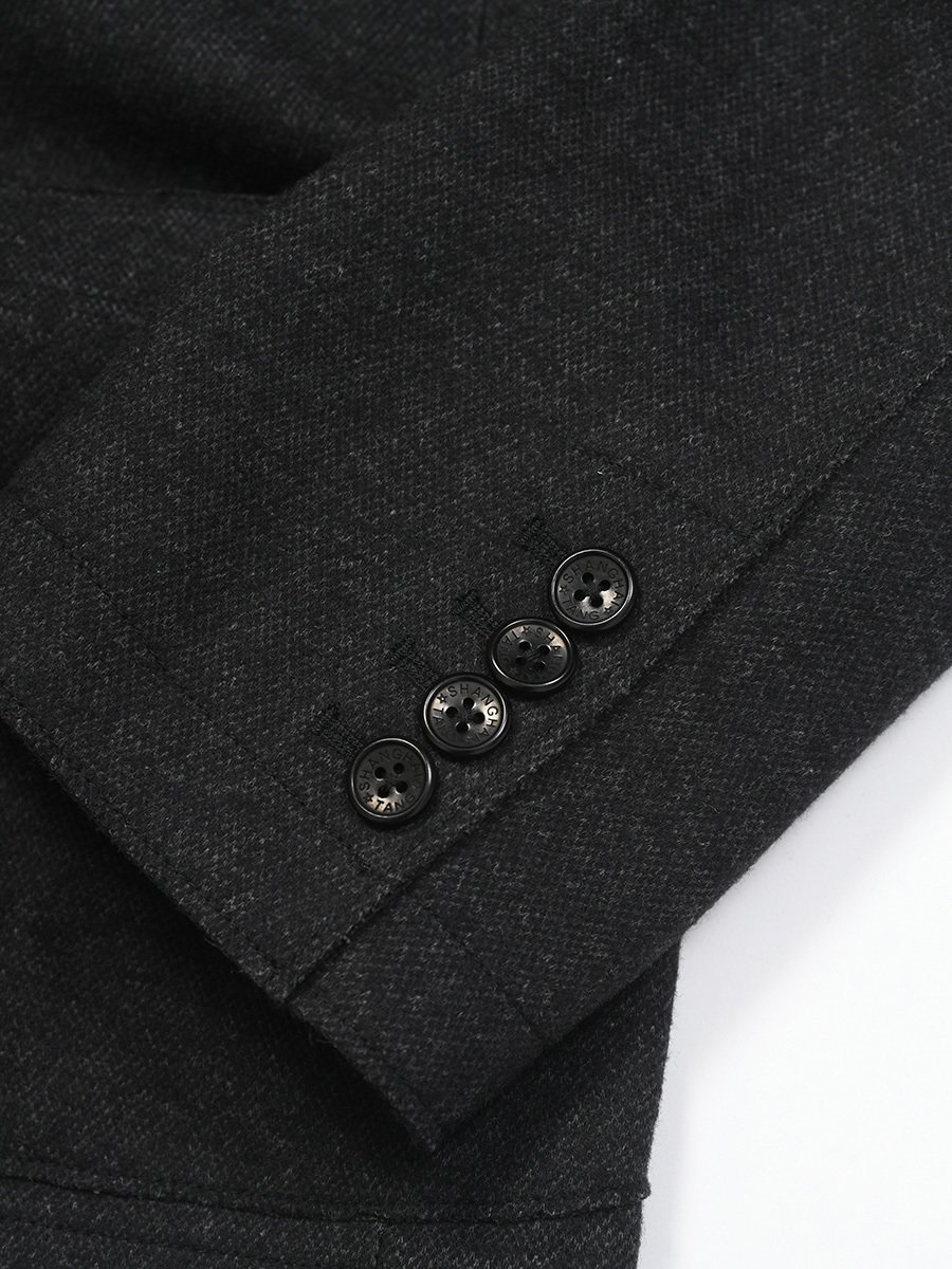 Cotton Wool Blend Knit Blazer (Slim Fit)