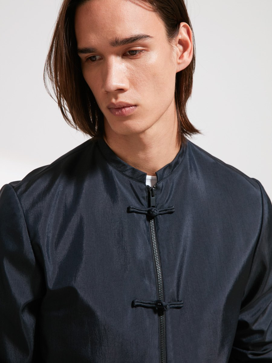 Bomber Jacket with Frog Buttons