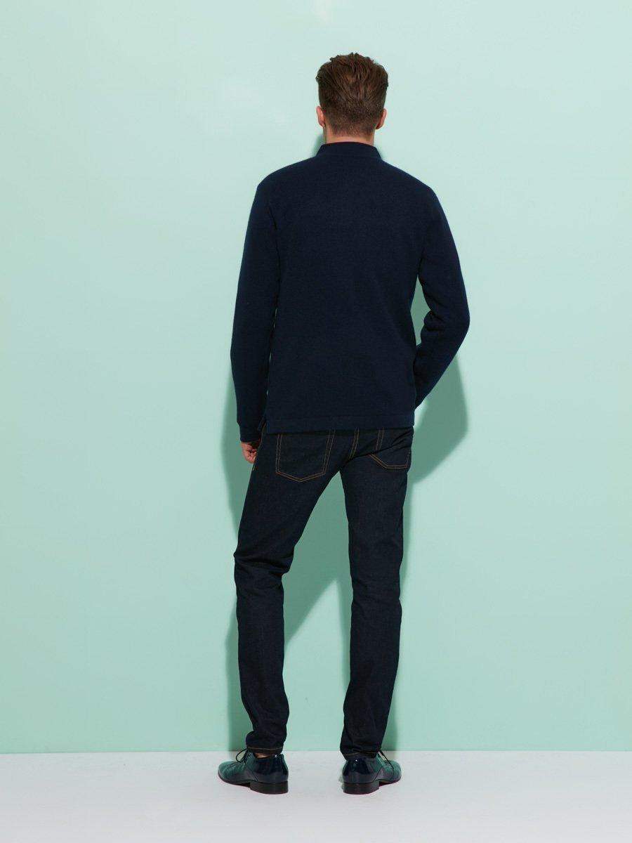 Cashmere-Silk Buttoned Cardigan with Lattice Silk Lining