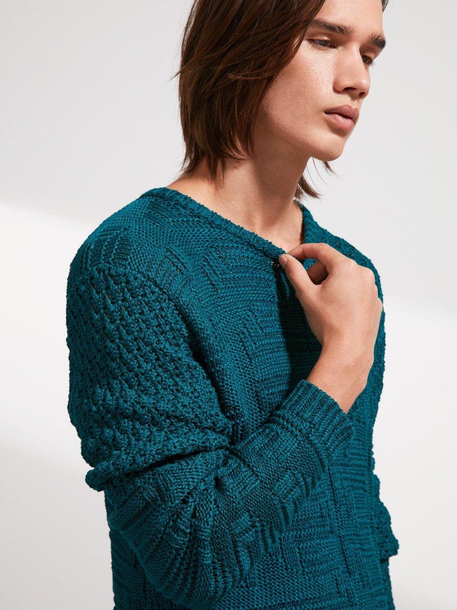 Cotton Patchwork Sweater