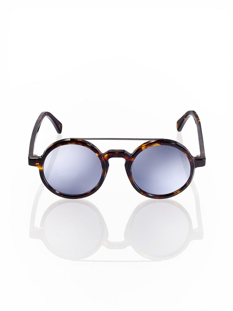 Retro Chinese Round Sunglasses Tortoise - Silver