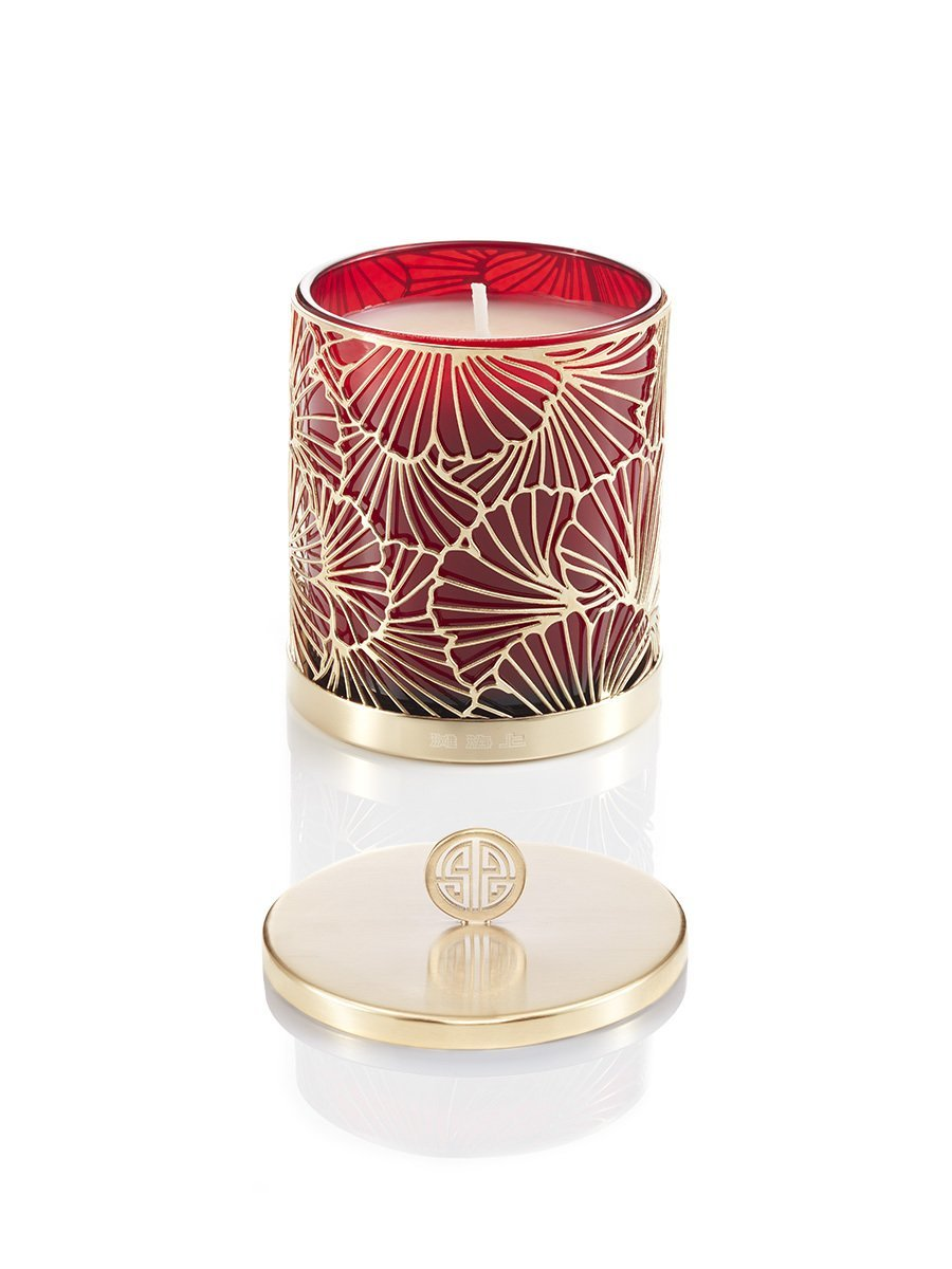 Gingko Ginger Flower Scented Deco Candle W. Lid