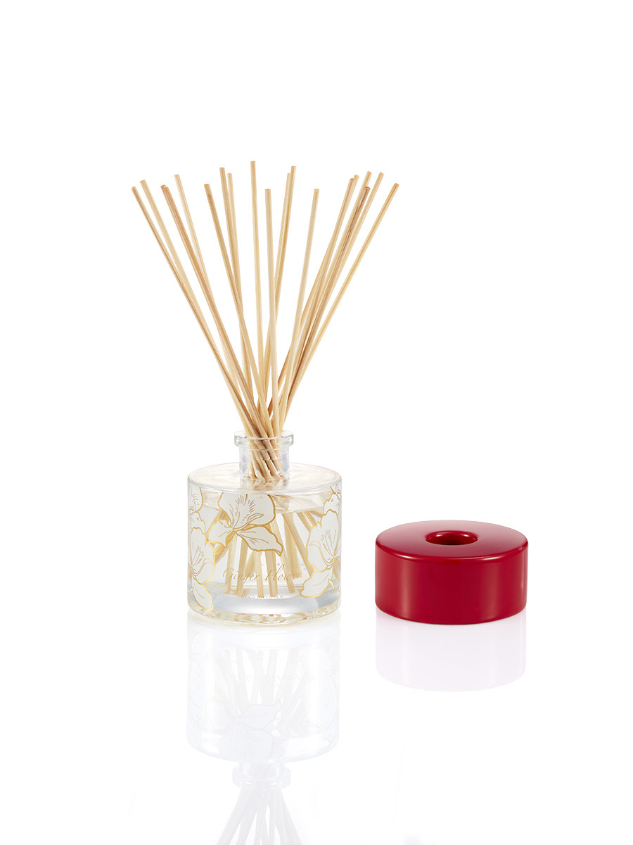 Ginger Flower Glass Diffuser Set 200ml