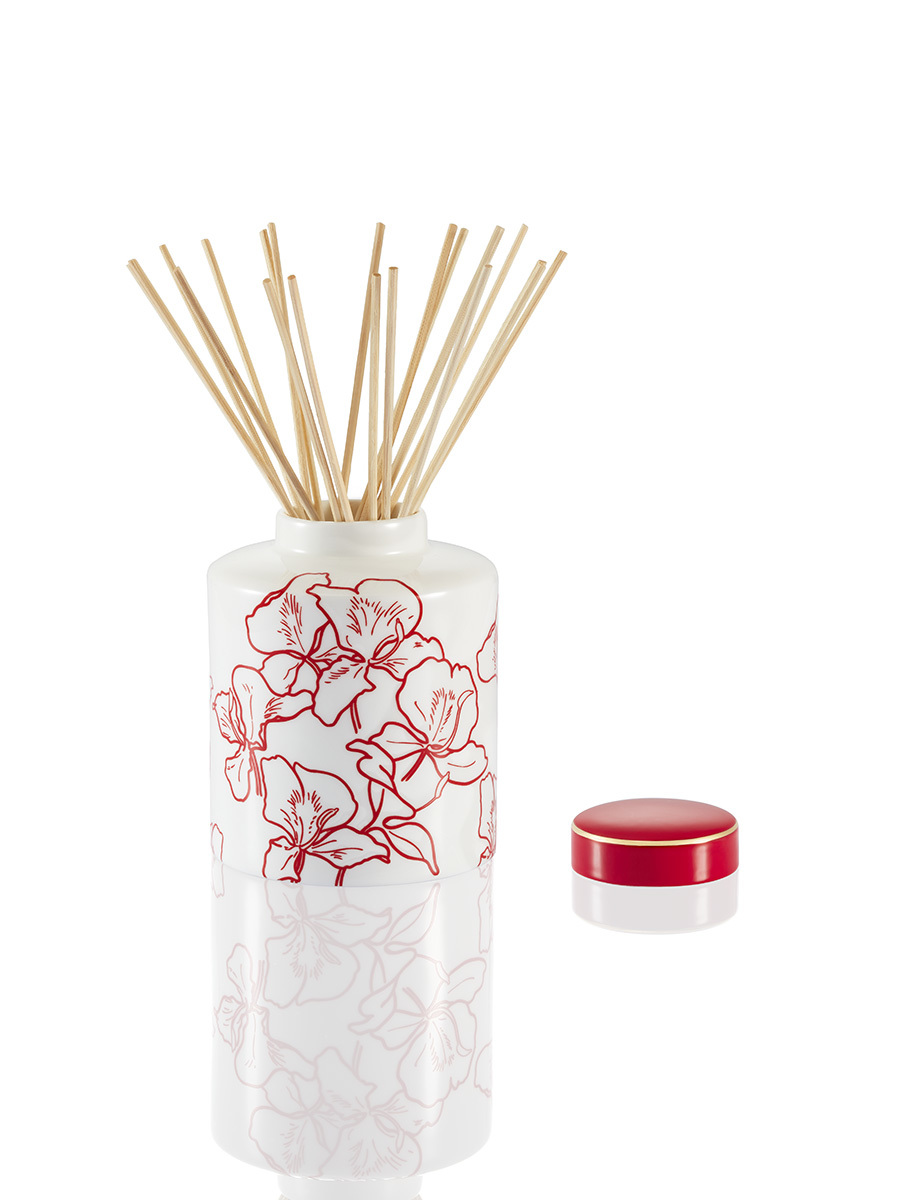 Ginger Flower Bone China 500ml Diffuser Set