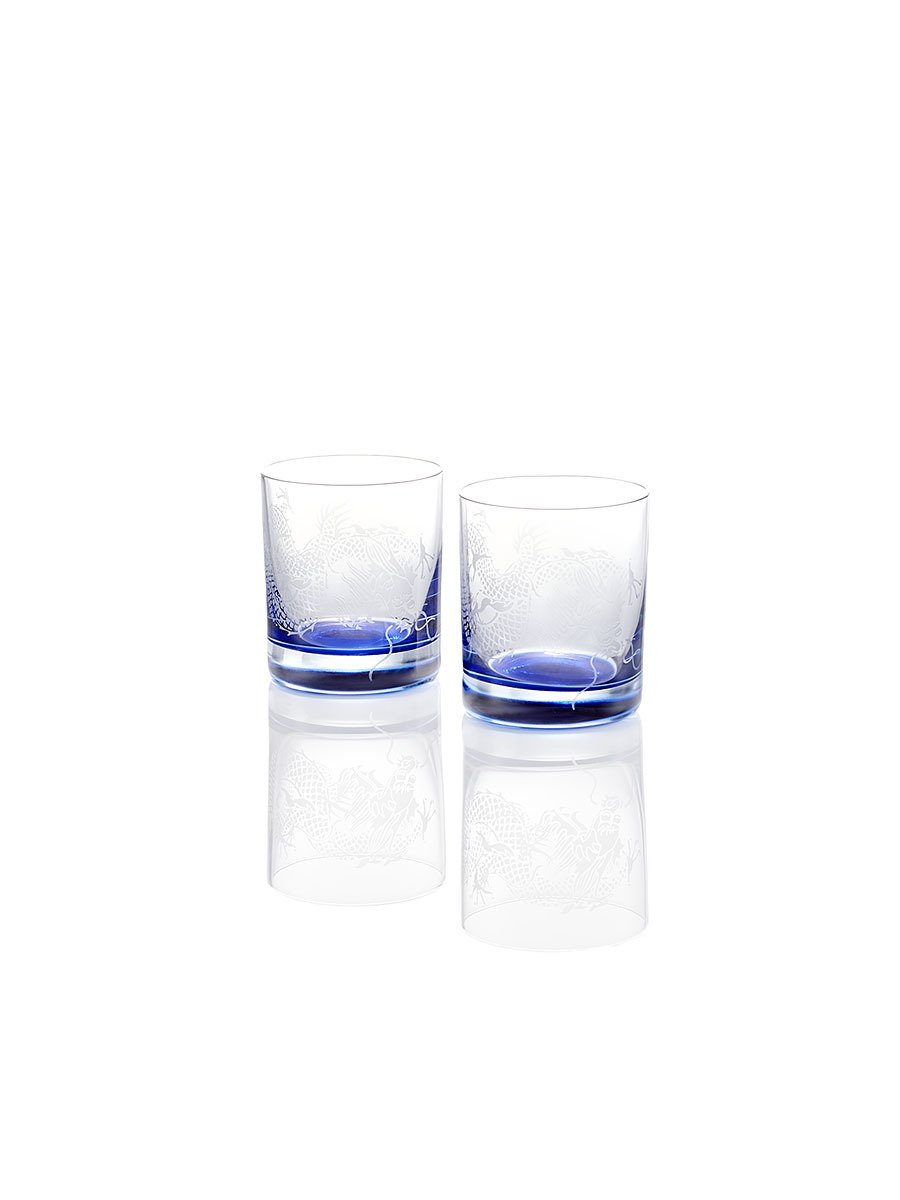 Colour Dragon Whiskey Glasses (Set of 2)