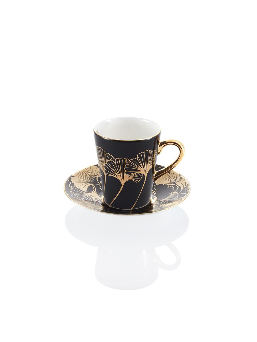 Ginkgo Bone China Espresso Cup and Saucer